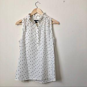 J. CREW sleeveless popover blouse, size 6